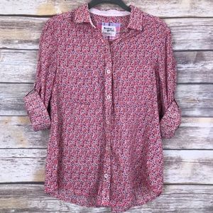 Anthro Holding Horses Floral Button Down Blouse 4